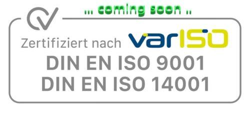 Zum 3-jährigen Geburtstag erarbeiten wir uns die Zertifizierung nach DIN EN ISO 9001 + DIN EN ISO 14001 … smile …